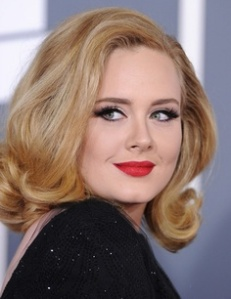 Adele always has a glam look in my opinion.