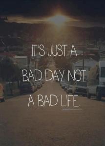 c/o: http://www.quick-break.net/c/2013/01/31/It_s_just_a_bad_day_not_a_bad_life.jpeg