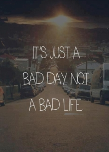 c/o: http://www.quick-break.net/c/2013/01/31/It_s_just_a_bad_day_not_a_bad_life.jpeg