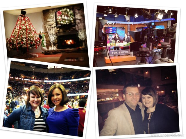 Christmas. Catching my friend Anna on Fox8 talking about her juice cleanse. Cavs with Melissa. Dinner at Hodge's pre-movie with Chris.