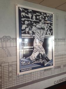 Love the baseball cards in the suite hallway.